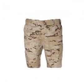 Pantalones M65 cortos de camuflaje árido pixelado.