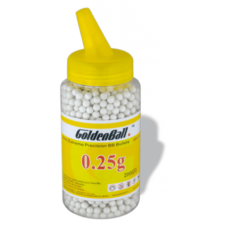 0,12 GRAMOS BOLSA GOLDEN BALL 2500 BOLAS 6 MM AIRSOFT MUNICION