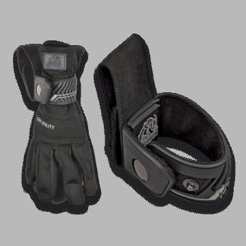 Porta guantes de seguridad, Marca Mastodon de color negro