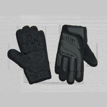 Airsoft taktische Handschuhe mit Verstärkung in den Bereichen der Auswirkungen. Schwarz