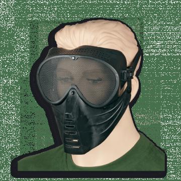 Máscara de airsoft fabricada en PVC. Marca Albainox. Black