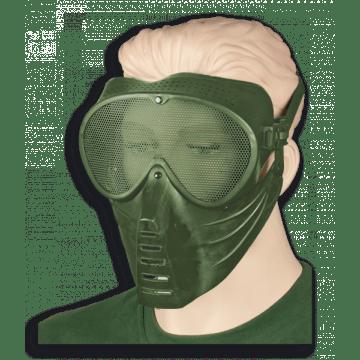 Máscara de airsoft fabricada en PVC. Marca Albainox. Green