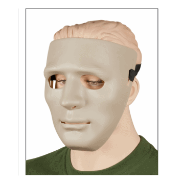 Máscara de airsoft fabricada en PVC. Beige