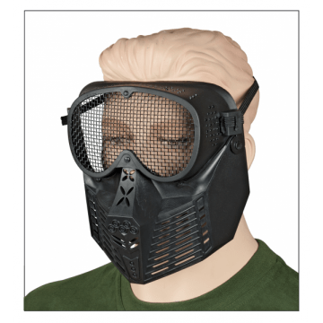 Airsoft faricada PVC mask. Black.