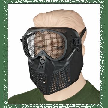 Airsoft Faricada PVC Maske. Schwarz.