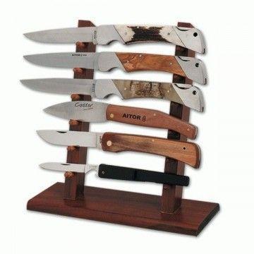 Expositor de madera de seis piezas
