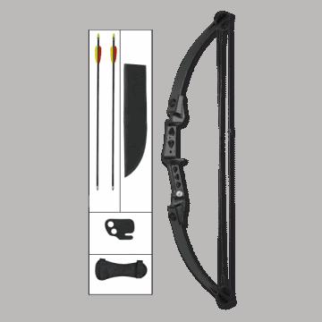 Arco de poleas de 30 LB, de color negro.