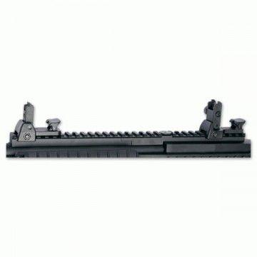 Visor de rail extraíble con fibra óptica. Apto para M15/M16/M4/AR