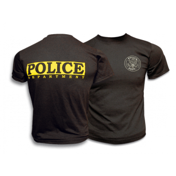 Camiseta POLICE en color negro. Barbaric