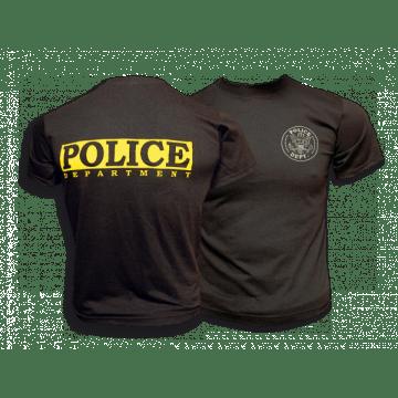 Barbarische Polizei-T-shirt Schwarz