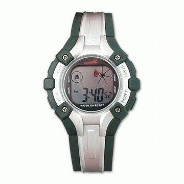 Reloj digital de la marca Crossnar. Silver- green