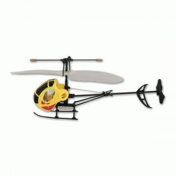 Infrared remote control helicopter. Yellow
