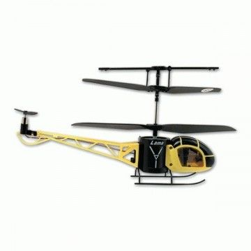Infrared remote control helicopter. 3-channel rotation. Yellow