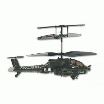 Infrared remote control helicopter. 3-channel rotation. Black