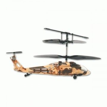 Infrared remote control helicopter. 3-channel rotation. Desert