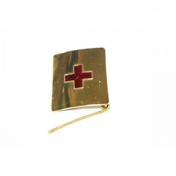 Metal buckle of the Red Cross