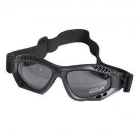 Safety glasses of black tape.