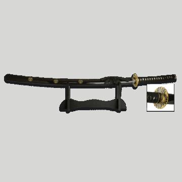 Katana Samurai con hoja de 69 cm en color negro.