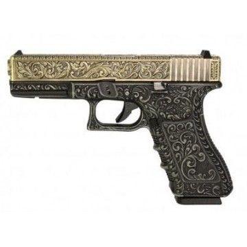 Pistola de Gas Blow Back Glock 22 40 Ivory Engraved WE