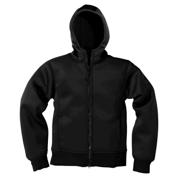 Chaqueta de neopreno Mil-Tec en color negro.