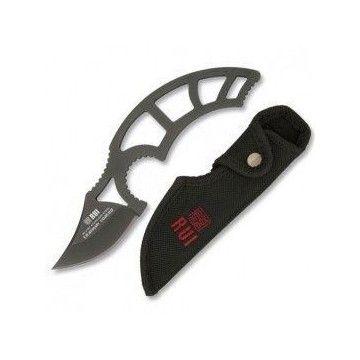 Cuchillo táctico RUI de 19.1 cm, con funda nylon. Hoja de acero inoxidable y titanio.
