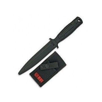 Cuchillo táctico de entrenamiento RUI de goma con funda nylon.