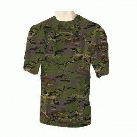 Camiseta de camuflaje boscoso pixelado Español.