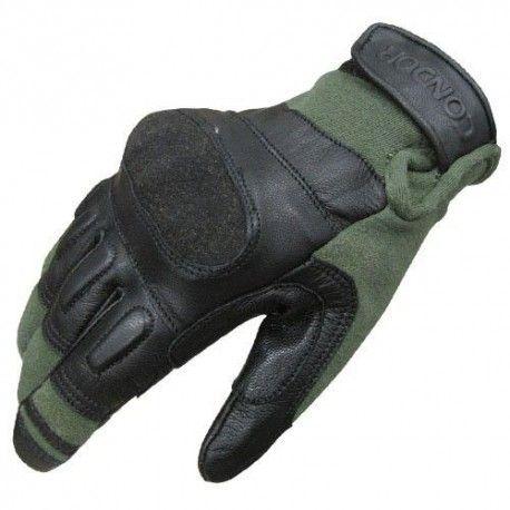 Guantes tácticos de Kevlar verde CONDOR.