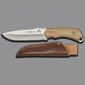 Cuchillo deportivo CHACAL de 24 cm, con mango de madera