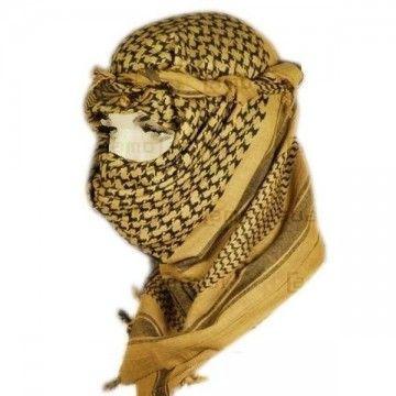 Pañuelo Palestino en color Tan - Negro