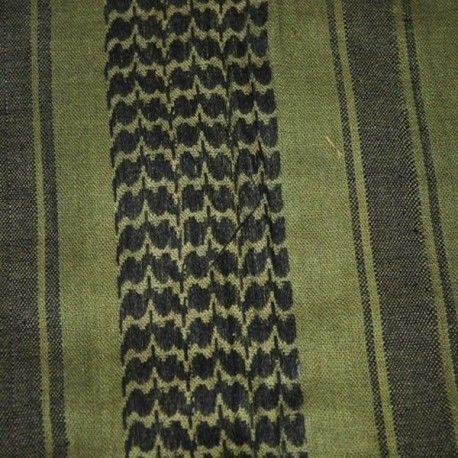 Pañuelo Palestino en color verde - Negro