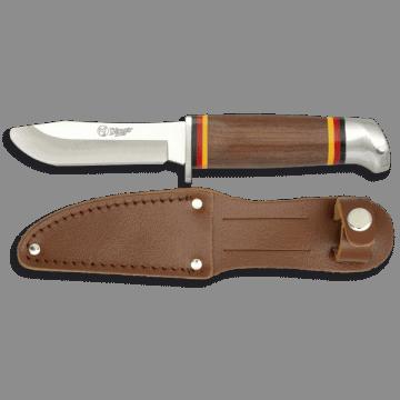 Cuchillo deportivo para Niño- cadete de 17,3 cm, con funda de piel