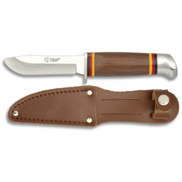 Sporting knife for child - Cadet of 17.3 cm, with leather case