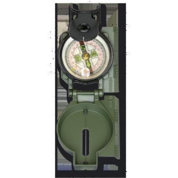 Brújula militar en verde de Dingo. Metal