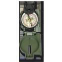 Brújula militar en verde de aceite. Metal