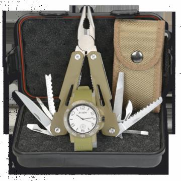 Set de Reloj analógico + Alicates 001C103P00009 Tan Edit