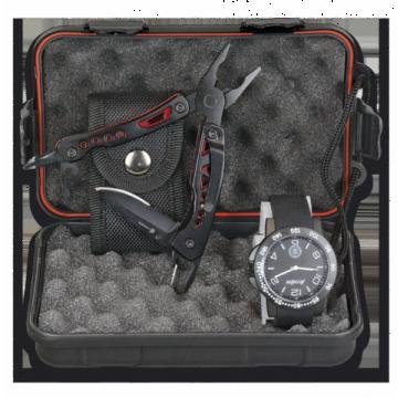 Set de Reloj analógico + Alicates 001C103P00008 Black Edit
