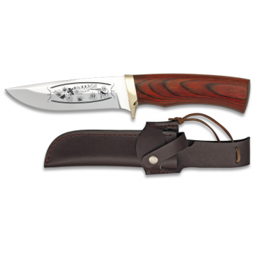 Sportliche Messer Stahl 440 23,2 cm, mit Nylon-Scheide und Griff rot Ausdauer