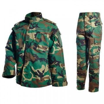 Uniforme militar en camuflaje Woodland de Dragonpro