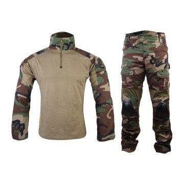 Uniforme de combate GEN2 en camuflaje Woodland de Emerson
