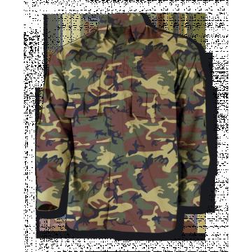 Camisa Cadet, de la marca Barbaric. Camuflaje verde