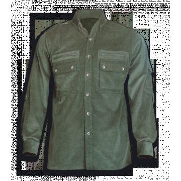 Camisa Cadet de pana, de la marca Barbaric. Verde
