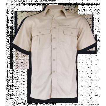Camisa Cadet de manga corta, de la marca Barbaric. Beige