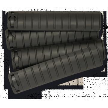 Hand Wachen / Cover Schienen für Waffen der Baureihe M. Marke Steinadler. Schwarz