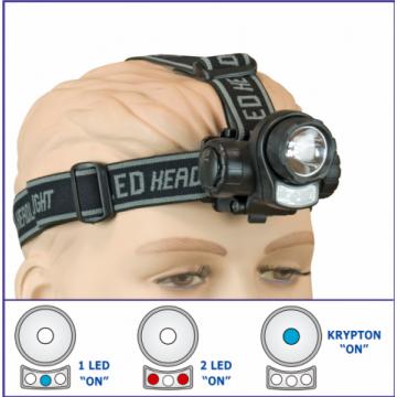 Linterna Frontal 3 Funciones de Xenon + 3 LED