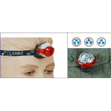 Linterna de tipo frontal con 3 funciones LED