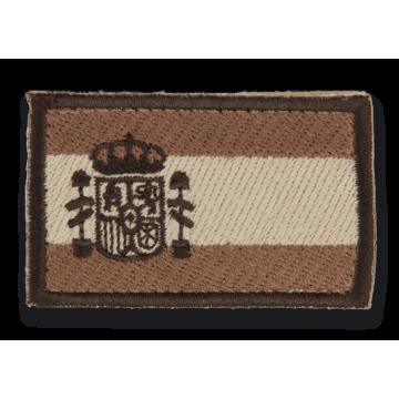 Bandera de España bordada en Árido coyote
