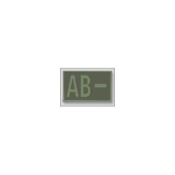 Parche Grupo Sanguíneo AB- en color OD