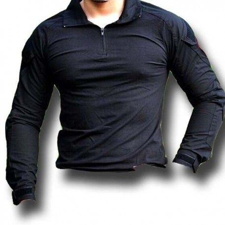 cf927fb27bc49 Camiseta táctica manga larga Coderas en negro de Combat Zone - Annack