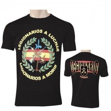 Camiseta Legionarios a luchar Legionarios a morir en Negro